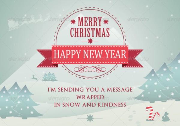 Christmas New Year Greeting Card - RSplaneta - Graphic Design