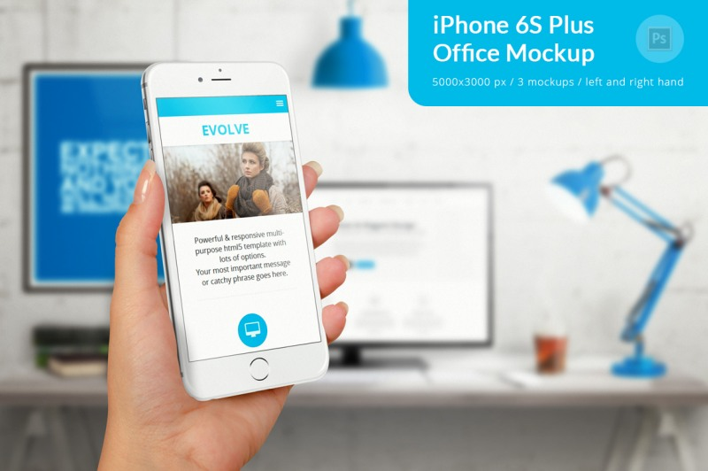iPhone 6S Plus Office Mockup