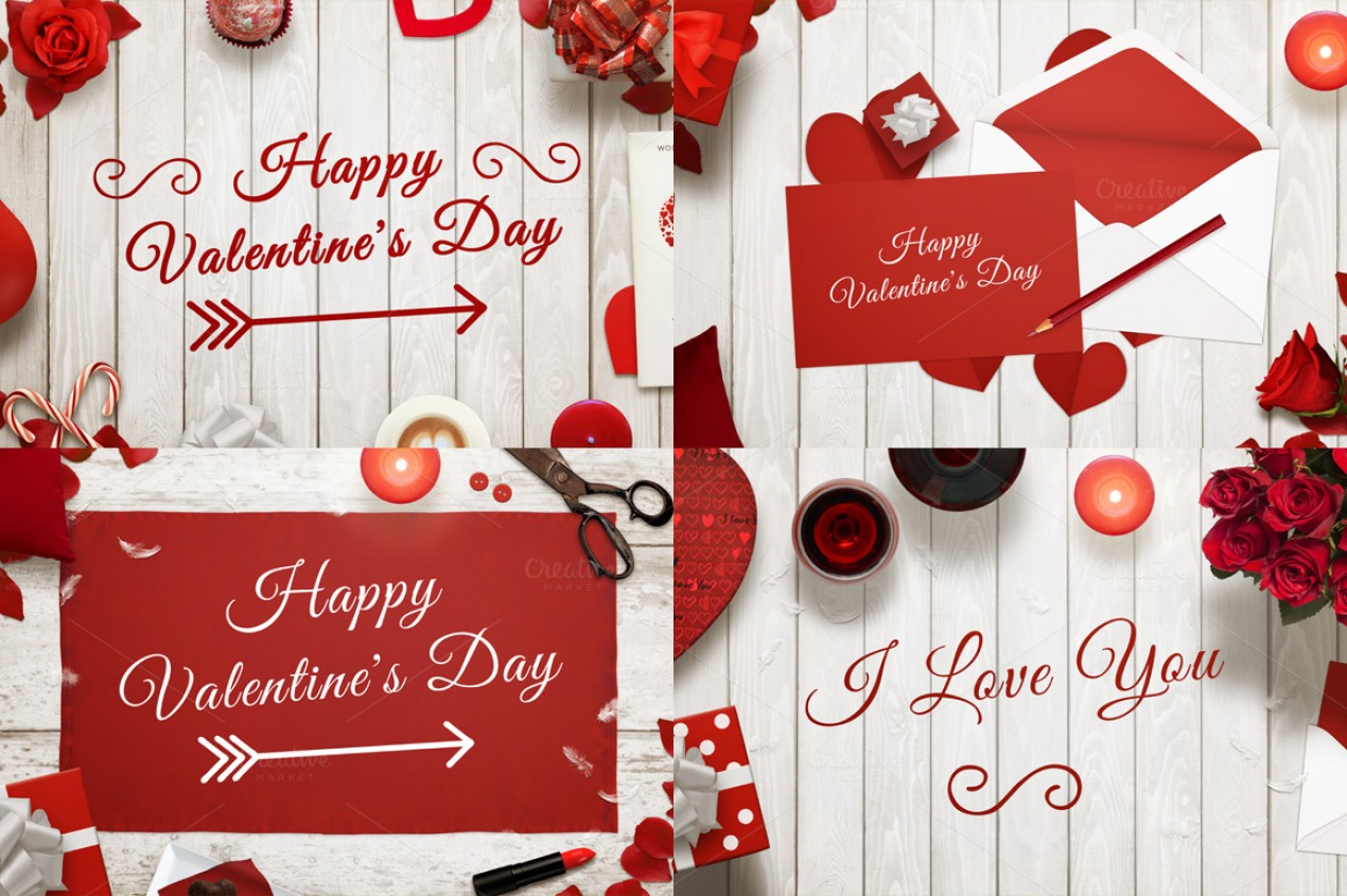 Valentines Day Creative Images For Cards Invitations Illustrations
