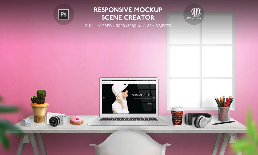MacBook Air Responsive Mockup Scene Creator