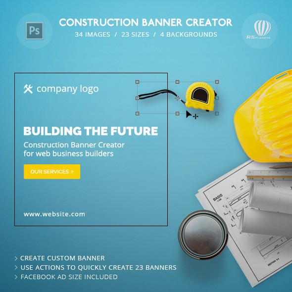 Construction Banner Creator
