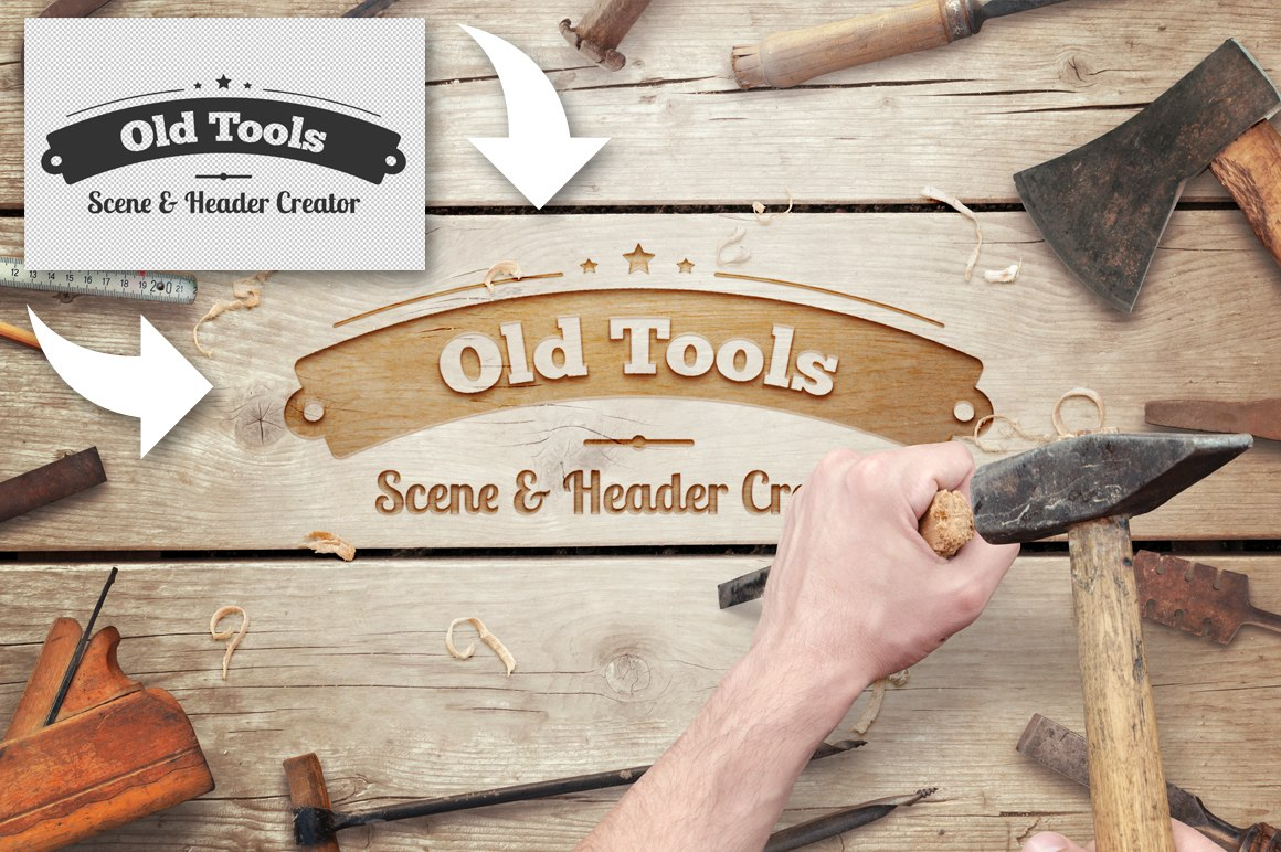 Old Tools Scene Header Creator
