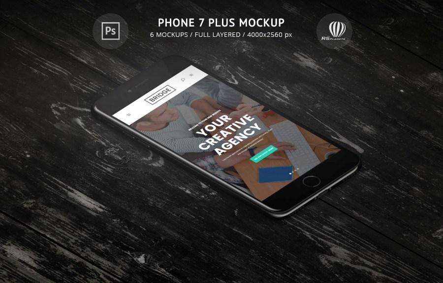 Iphone 7 Plus Mockup Rsplaneta Graphic Design