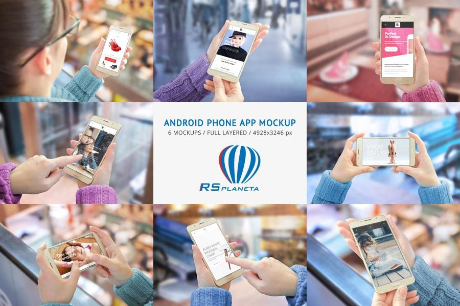 Android Phone App Mockup