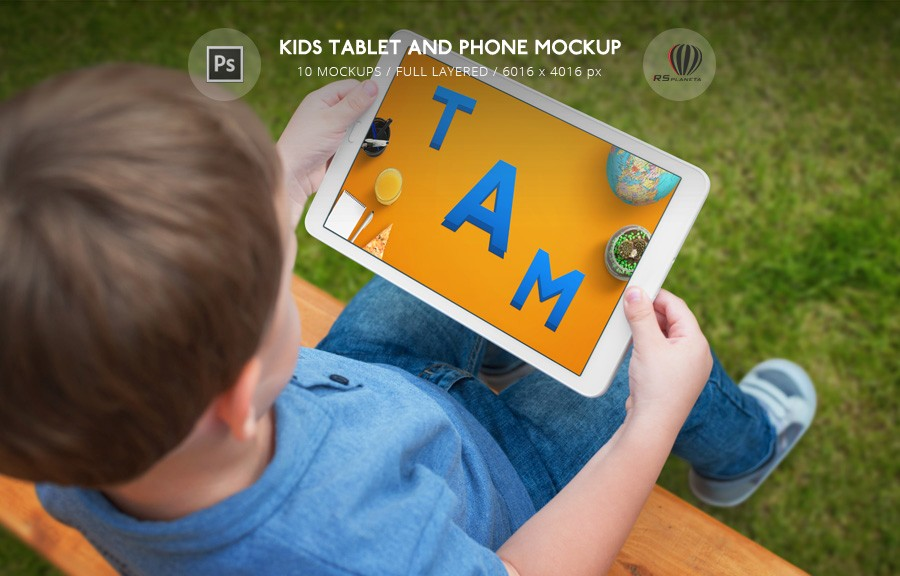 Kids Tablet and Phone Mockup