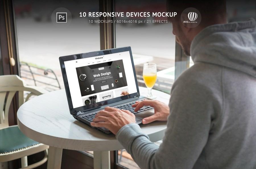 10 Responsive Devices Mockup