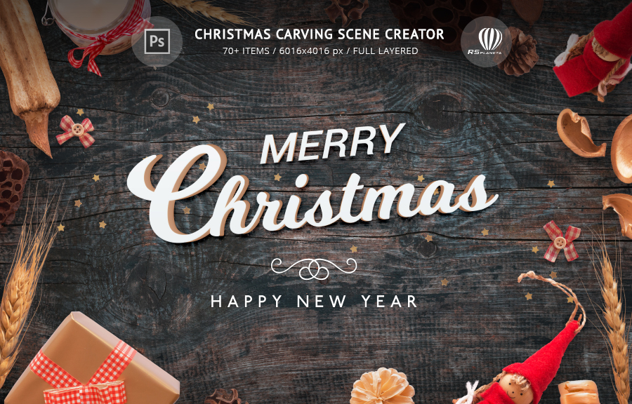 Christmas Carving Scene Creator