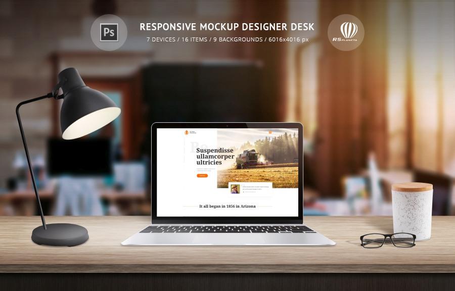Responsive Mockup Designer Desk