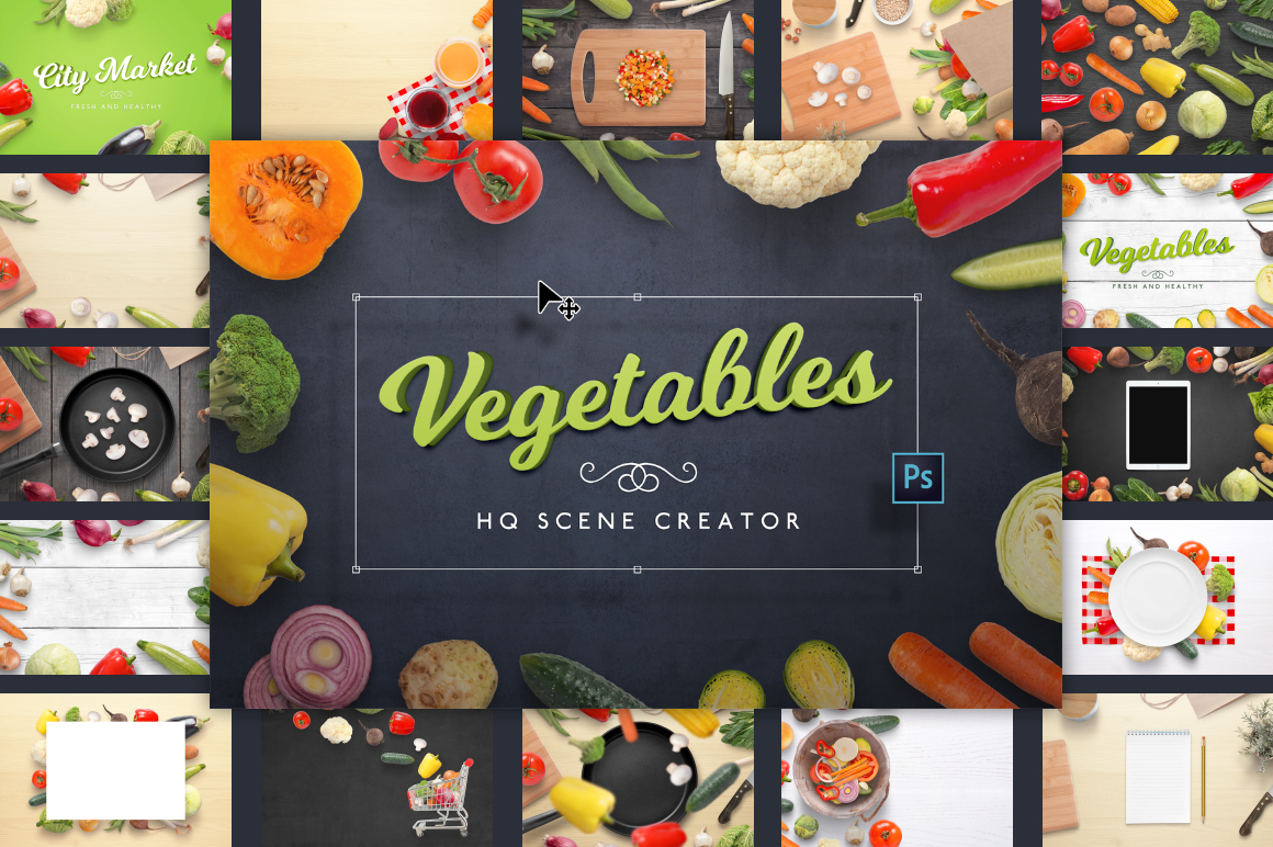 Vegetables HQ Scene Creator