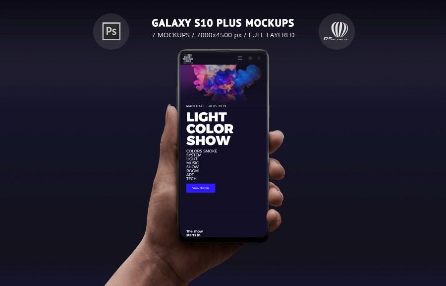 Galaxy S10 Plus Mockups